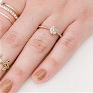 GOLD Over Sterling Silver 925 Stamp CZ Stone Ring